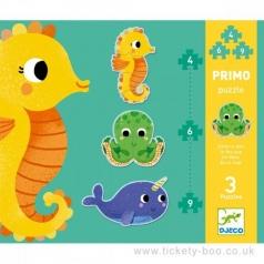 primo in the sea - puzzle progressivo 4,6,9 pezzi