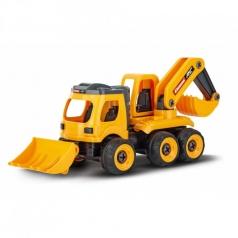 first backhoe loader rc 2,4 ghz - escavatore telecomandato
