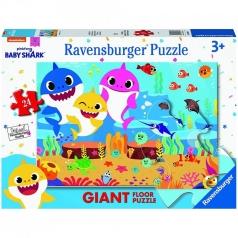 baby shark - puzzle 24 pezzi pavimento