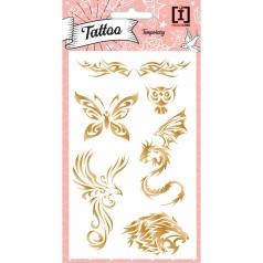 tattoo animals - tattoo  metallizzati dorati