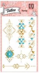 tattoo turquoise - tattoo  metallizzati dorati