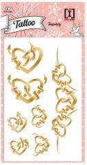 tattoo heart - tattoo  metallizzati dorati