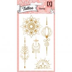 tattoo indie - tattoo  metallizzati dorati
