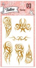 tattoo tribal - tattoo  metallizzati dorati