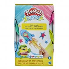 play-doh elastix stretch and mold - 4 barattolini colori neon