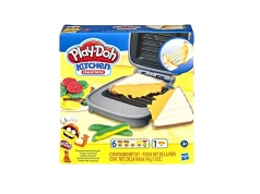 play-doh kitchen creations grilled cheese playset con 7 barattolini