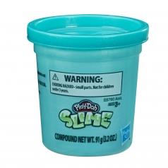play-doh slime barattolo azzurro 91g