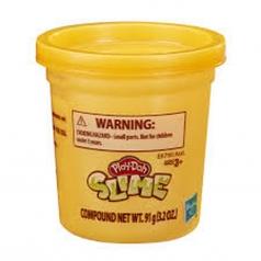 play-doh slime barattolo arancione 91g