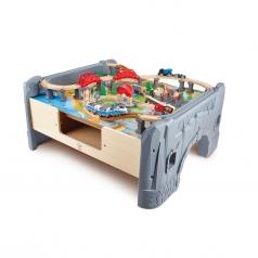 set ferroviario con tavolo da gioco 70 pezzi