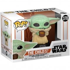 star wars the mandalorian - the child with cup - funko pop 378