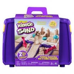 kinetic sand - valigetta richiudibile con formine e 907g di sabbia