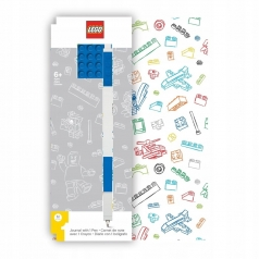 notebook mattoncino blu 4x6 piu penna gel blu