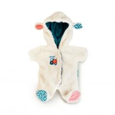 bambola con tutina da pecorella