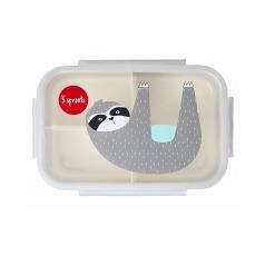 porta pranzo bento a 3 scomparti - bradipo grigio