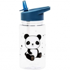 borraccia 450ml con cannuccia - panda - senza bpa e ftalati
