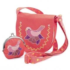 borsetta e portamonete - uccellini
