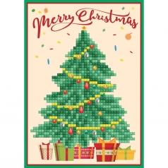 biglietto d'auguri - diamond dotz christmas tree