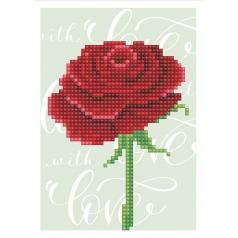 biglietto d'auguri - diamond dotz love rose