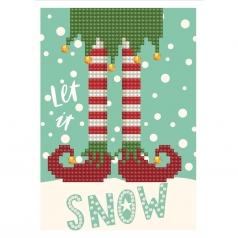 biglietto d'auguri - diamond dotz let it snow