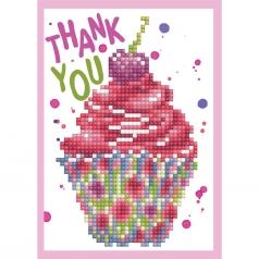 biglietto d'auguri - diamond dotz cup cake thank you