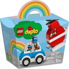 10957 - elicottero antincendio e auto della polizia