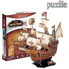 galeone santa maria - grande puzzle 3d 113 pezzi