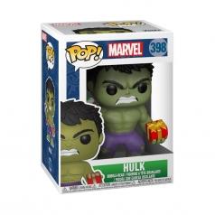 marvel holiday - hulk con regalo e calza - funko pop 398