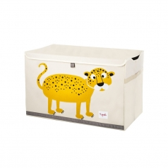 baule portagiochi leopardo