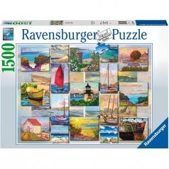 collage costiero - puzzle 1500 pezzi