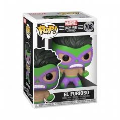 marvel: lucha libre - hulk - funko pop 708