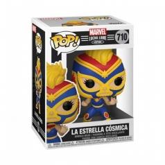 marvel: lucha libre - captain marvel - funko pop 710
