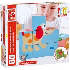 pepe e i suoi amici - puzzle a blocchi
