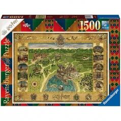mappa di hogwarts - puzzle 1500 pezzi