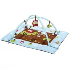 area gioco con tappeto imbottito e palestrina