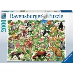 giungla - puzzle 2000 pezzi