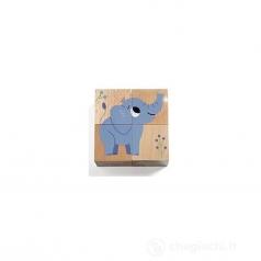 wild & co - puzzle 4 cubi in legno