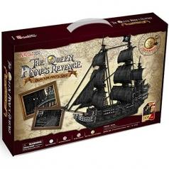 the queen anne's revenge - grande puzzle 3d 328 pezzi