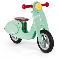 bicicletta scooter in legno color menta