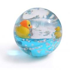 palla rimbalzante con acqua paperelle