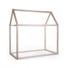struttura letto casetta natural, legno di faggio massello - 140x70 cm