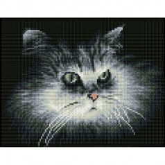 shadow cat say - diamond dotz squares dq7.002 32x25cm