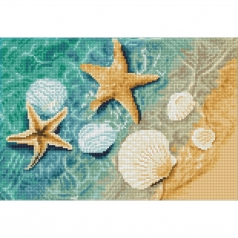 crystal shore - diamond dotz squares dq8.003 41x28cm