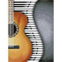 classical jazz - diamond dotz squares dq8.004 30x41cm