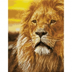 lord of the serengeti - diamond dotz squares dq9.002 35x45cm