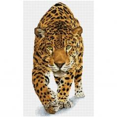 on the prowl - diamond dotz squares dq9.007 32x52cm