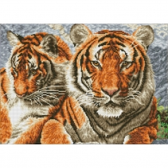 tigers - diamond dotz squares dq10.003 52x37cm