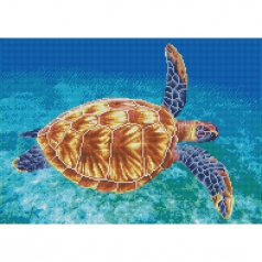 graceful swimmer - diamond dotz squares dq10.013 52x37cm
