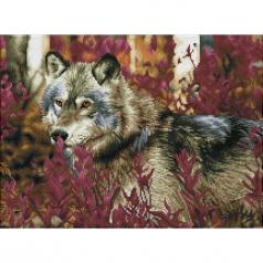 autumn wolf - diamond dotz squares dq12.001 57x42cm
