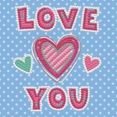 love you - dotz box 15x15cm dbx.001