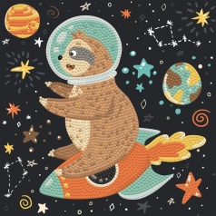 sloth rocket - dotz box 15x15cm dbx.017